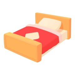 Bed icon. Cartoon illustration of bed vector icon for web