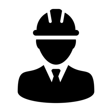 Construction Worker, Employee, Engineer, Labour Vector Icon illustration