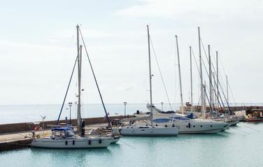 The marina morning Zakynthos Greece