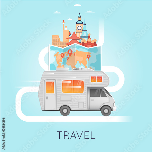 Travel by camper Russia, USA, Japan, France, England, Italy