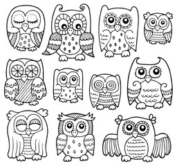 Owl drawings theme 1