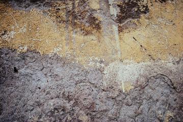 Muro verniciato di giallo