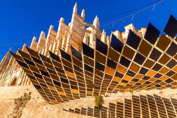 Sonnenschutz der Kathedrale von Palma de Mallorca
