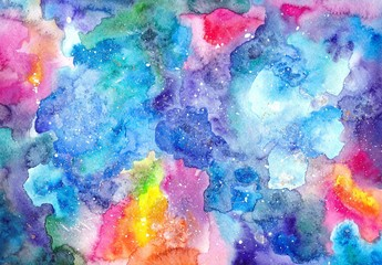 Watercolor multicolored bright texture