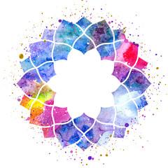 Watercolor geometric cosmic frame
