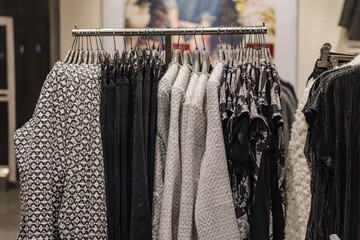 Clothing store in detail