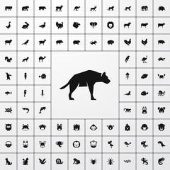 hyena icon illustration