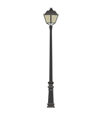 Lamp. Vector illustration of a street lamp