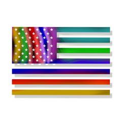 Drapeau des Etas Unis version LGBT