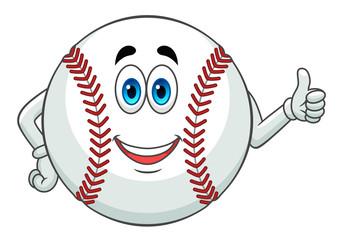 Baseball gesturing thumb up