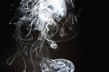 White smoke  on a dark backgrounds