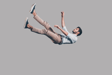 Man falling down.