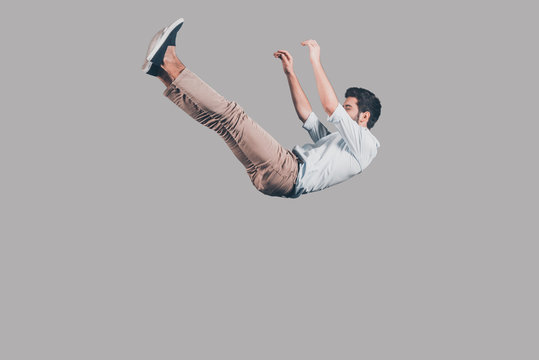 Free falling.
