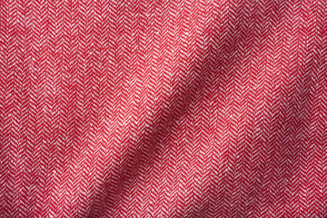 Red wool background