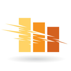 Falling Stats Abstract Icon