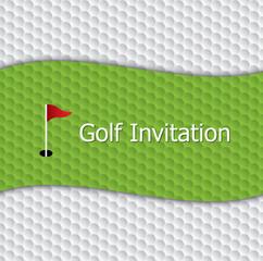 Golf invitation graphic design