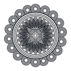 mandala art isolated icon vector illustration design
