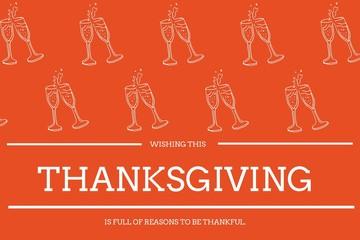 Thanksgiving Message on Orange Background Design