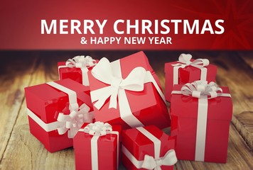 Christmas Message on Wooden Background Design