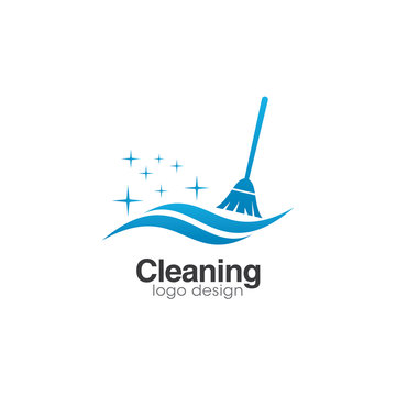 Cleaning Creative Concept Logo Design Template
