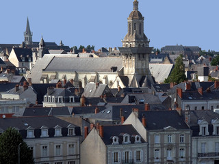 angers loire valley france old town