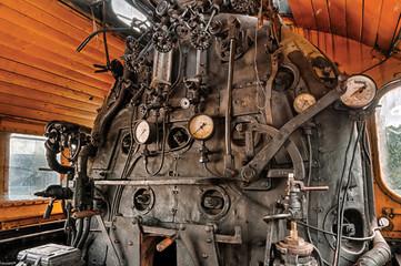 Huge steam loco's kitchen