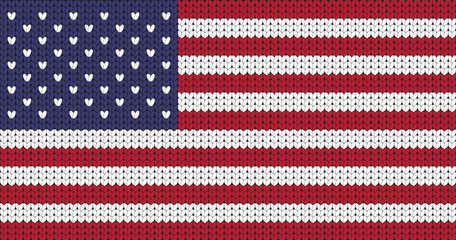 Knitted flag of USA