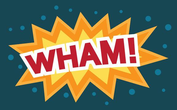 Wham Comic Speech Bubble, Cartoon