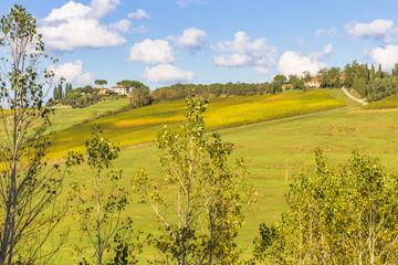 paysage de Toscane en automne, Italie