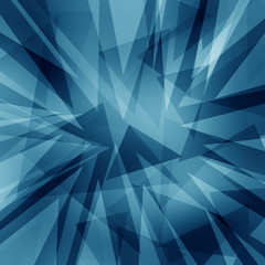 blue and white abstract background, shards or triangle shapes layered in random abstract pattern, geometric angles