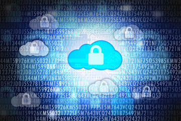 Cloud computing security or data protection concept