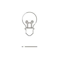 Bulb thin line icon. Mbe minimalism style