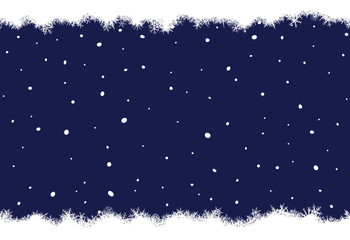 Abstract Christmas winter background from snowflakes.