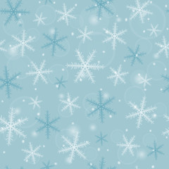 Seamless Christmas pattern from blurred snowflakes. Vector illustration.
