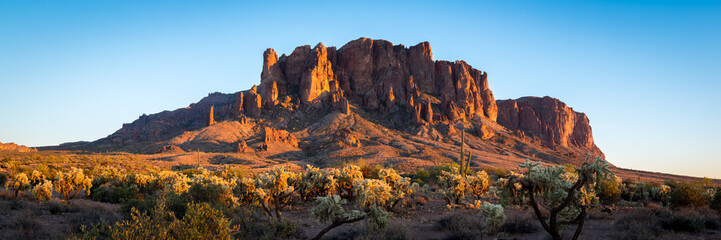 Superstition Mountains in Arizona