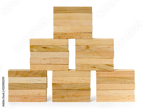 Wall Of Bricks From Wooden Game Stock Photo And Royaltyfree Images Mesmerizing Wooden Bricks Game