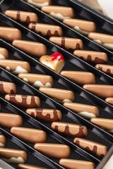 Luxury handmade chocolate candies in gift box