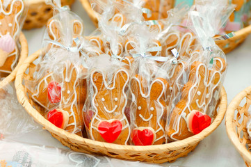 gingerbread Bunny with a heart in the plate