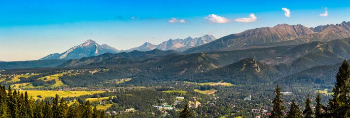 Panorama of High Tatra Mountains