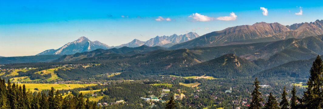 Panorama of High Tatra Mountains