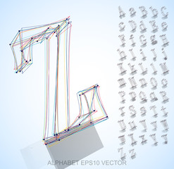Vector illustration of a  sketched Letters. Hand drawn 3D Letters.