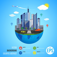 Urban earth concept. Vector illustration