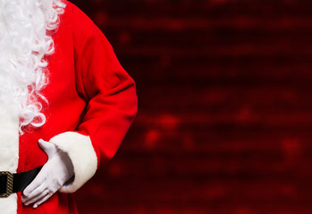 Santa Claus. Wide image with large copy-space