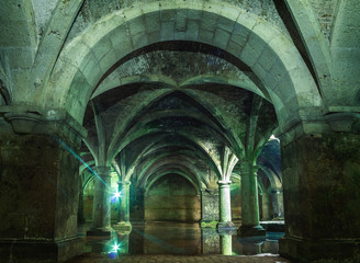 Portuguese Cistern. El Jadida Cistern, Morocco. Ancient European Historical Buildings in Morocco