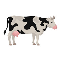 cow animal farm icon vector illustration design