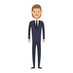 businessman character avatar icon vector illustration design