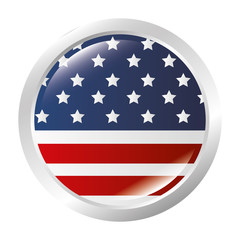 united states of america button vector illustration design