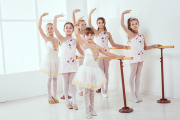 Little Girls Practicing Ballet