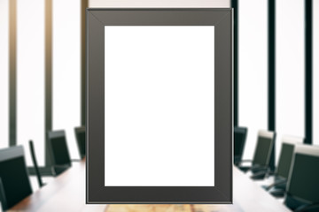 Picture frame in boardroom