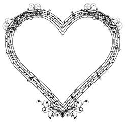 Coração_Pauta_Musical_Notas_Arabesco